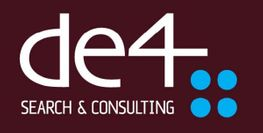 Logo, De4 Search & Consulting AS
